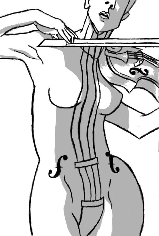 Drawn violin umbrella academy  (Vanya/The The Academy Violin)