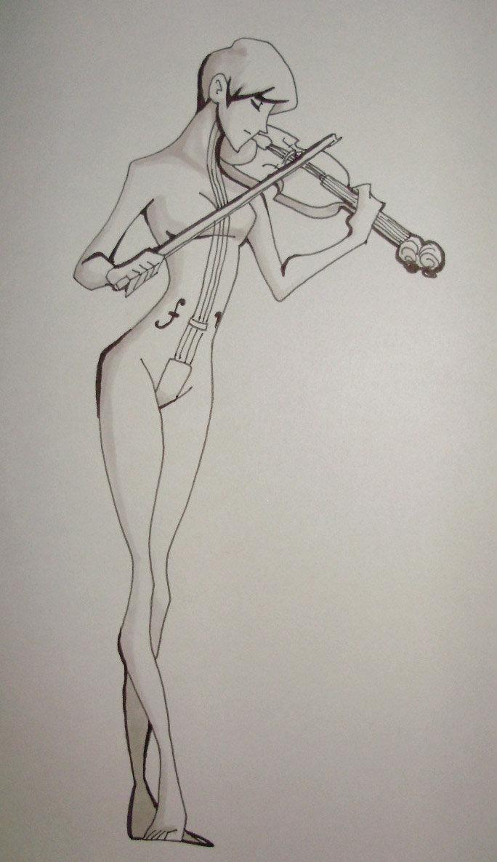 Drawn violinist umbrella academy By 36 tsukinoyagami DeviantArt Violin