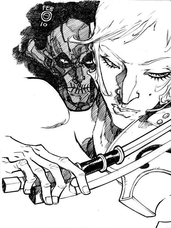 Drawn violinist umbrella academy White ACADEMY DeviantArt  Umbrella
