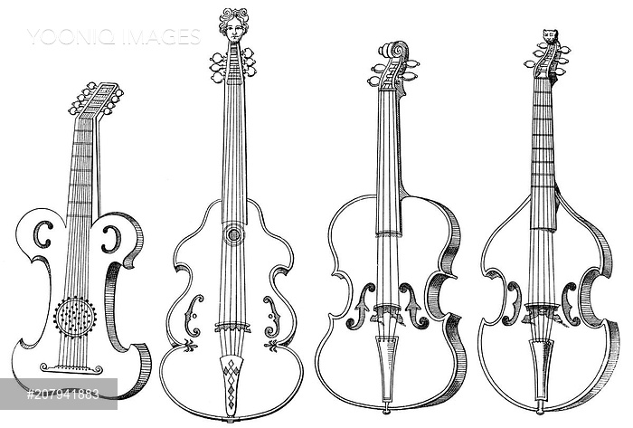 Drawn violin Case drawing Historical of Historical