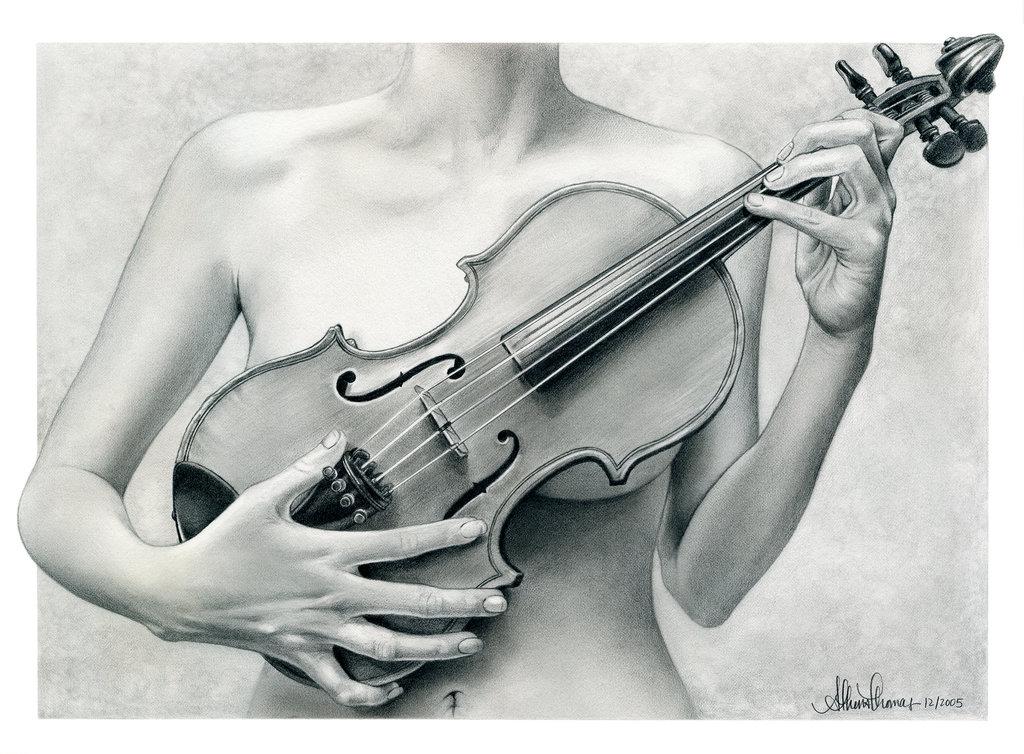 Drawn violinist By on by DeviantArt ekabir