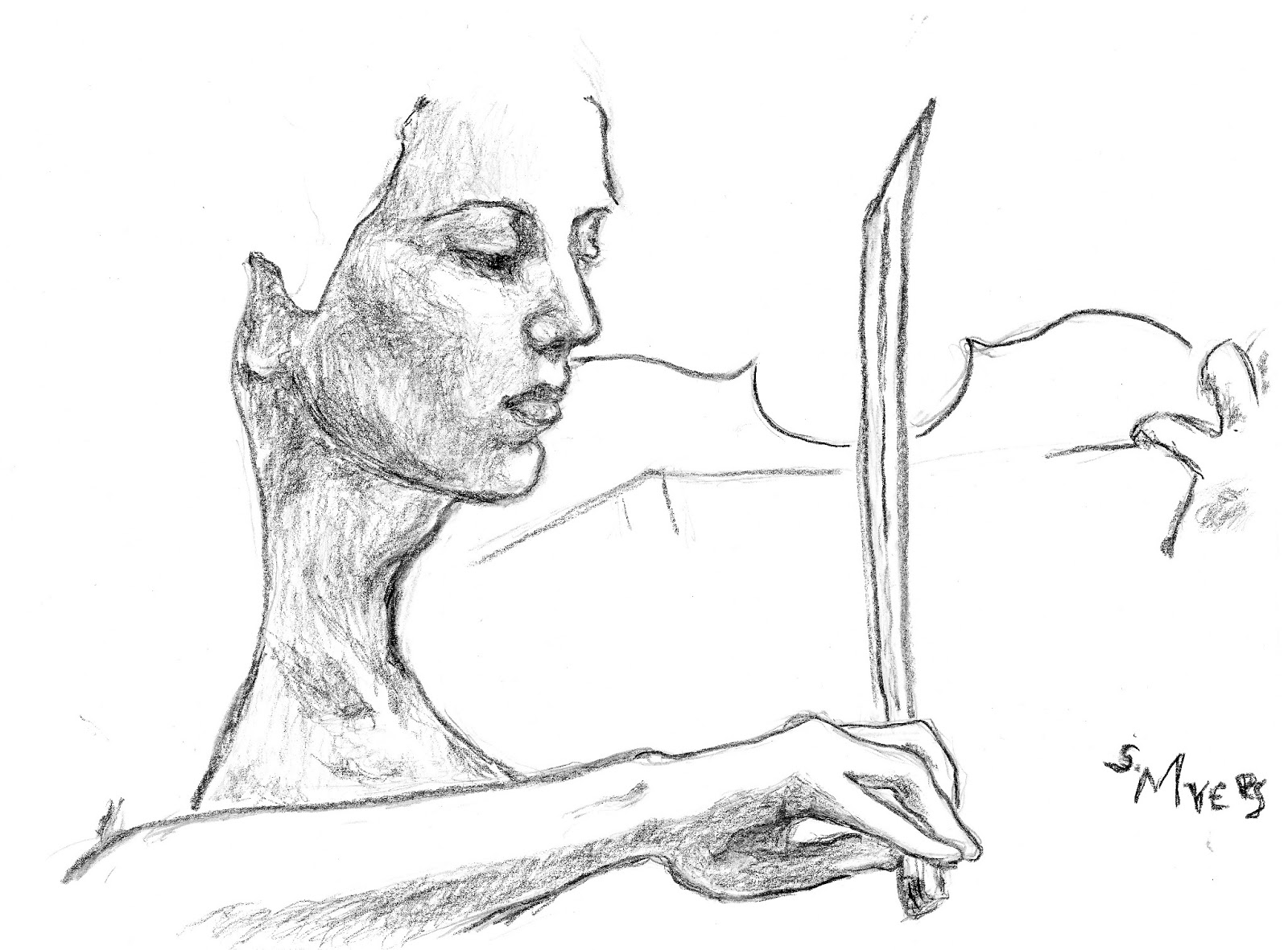 Drawn violinist The Oeuvre: Drawing Violinist S