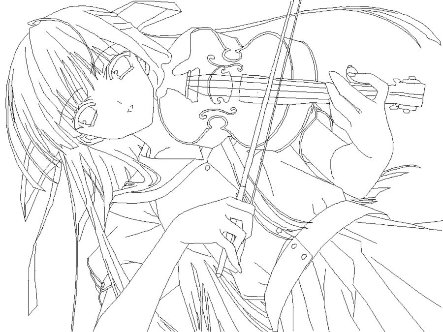 Drawn violinist anime By violin violin on anime