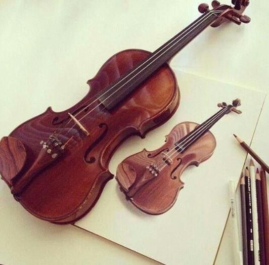 Drawn violinist color