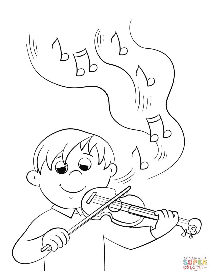 Drawn violinist coloring page Pages Violin Printable Violin coloring