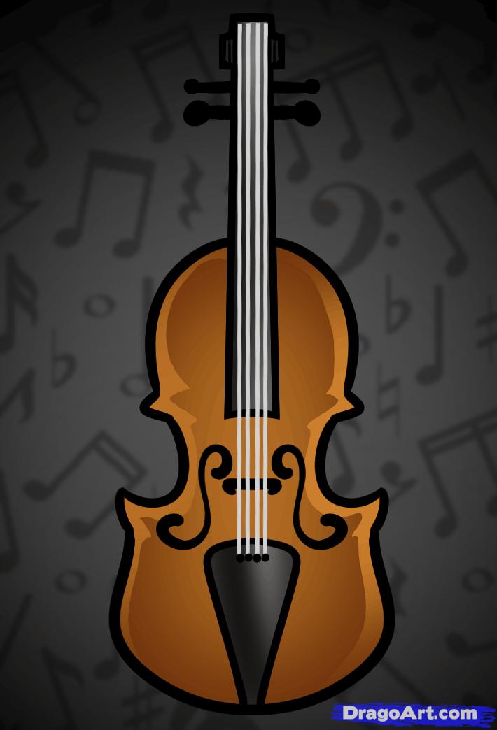 Drawn violin cartoon String How Violin Step Blank
