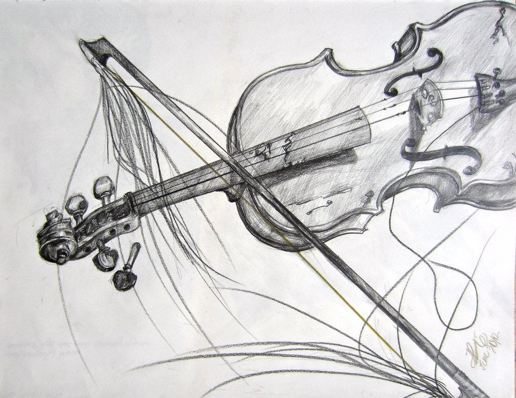 Drawn violinist fiddle Violin Violin Sketch Bow Bow