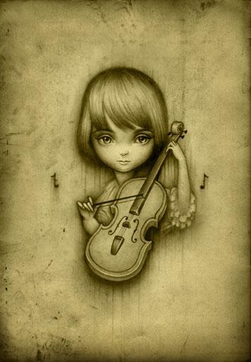 Drawn violinist fiddle On com Violin BluTack BluTack