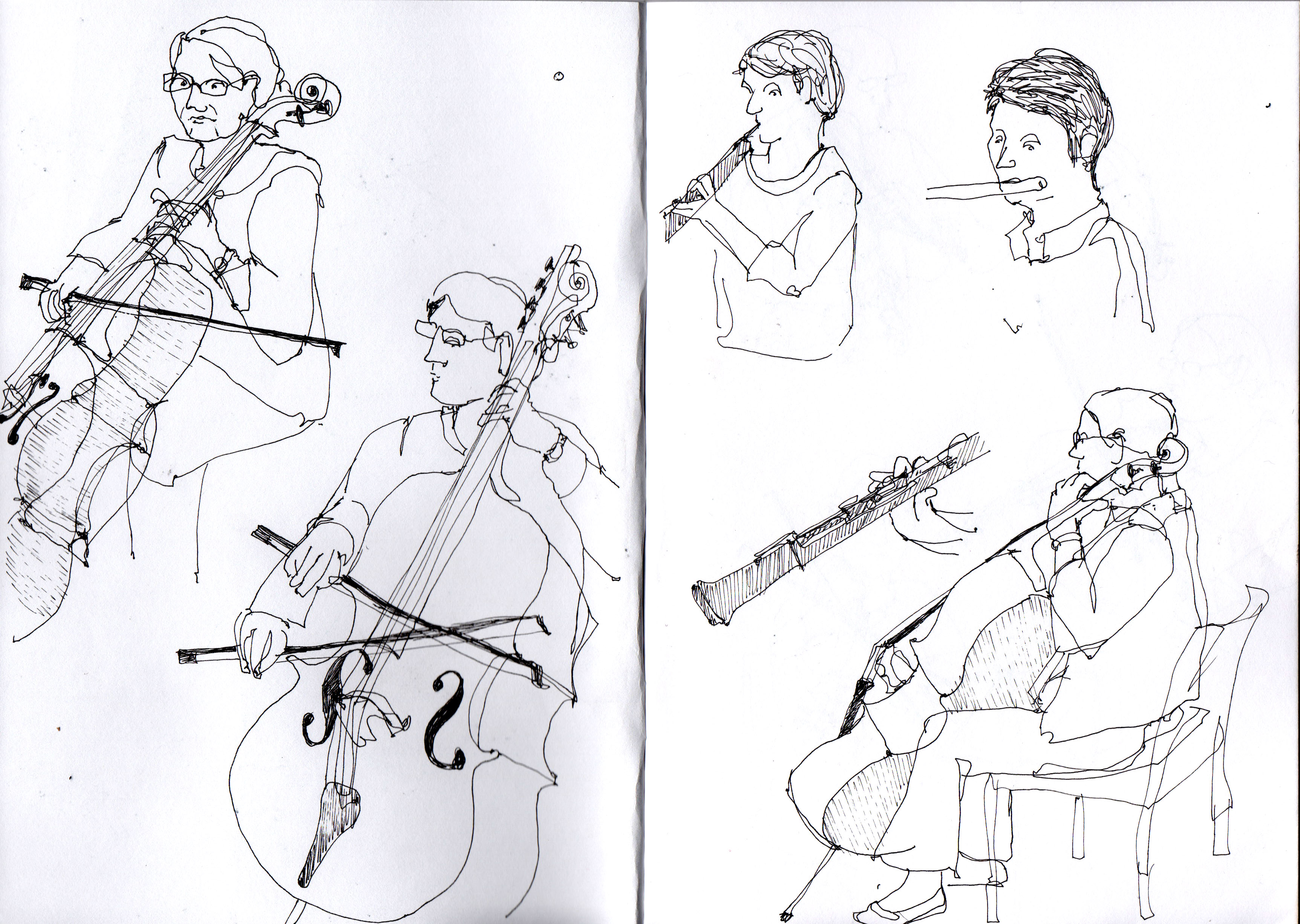 Drawn violinist line drawing Where movements Harriet the really
