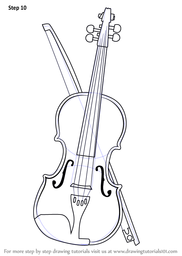 Drawn violinist line drawing (Musical by for Weekly How