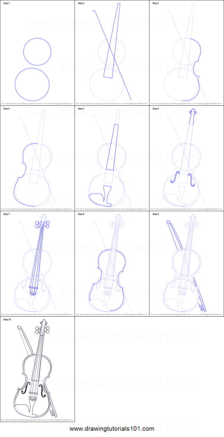 Drawn violinist line drawing By sheet to a Draw