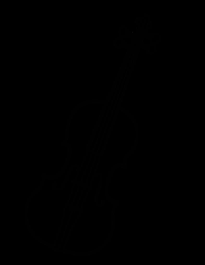 Drawn violinist outline By Zebuta on Violin Kisekae