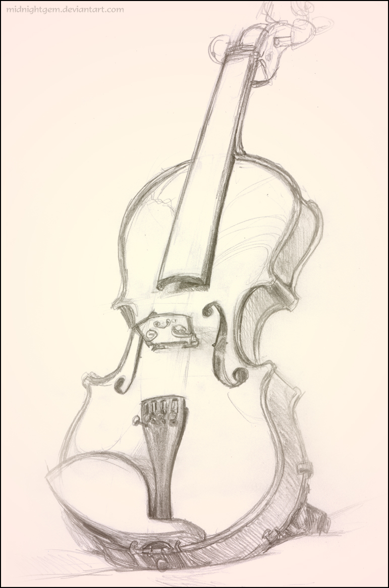 Drawn violinist realistic – free Drawing download Drawing