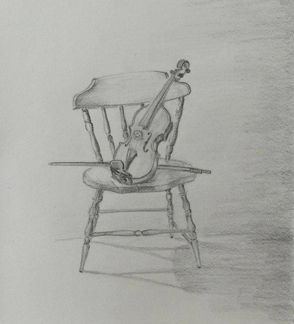 Drawn violinist realistic Violin – Life images free