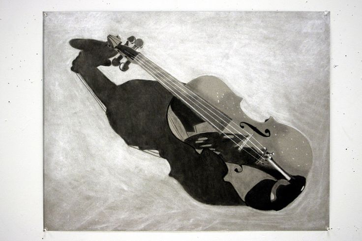 Drawn violinist realistic Different of many A drawings