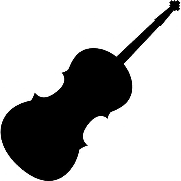 Drawn violinist silhouette Icons Free silhouette Violin silhouette
