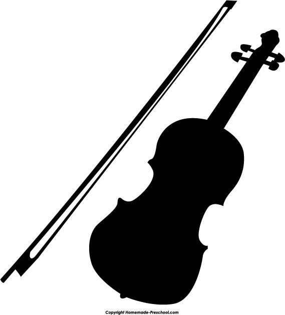 Drawn violinist silhouette Clipart black images Violin 2