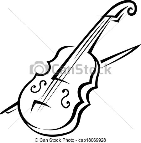 Violin clipart pleasant sounds Bow  and Vector Vector