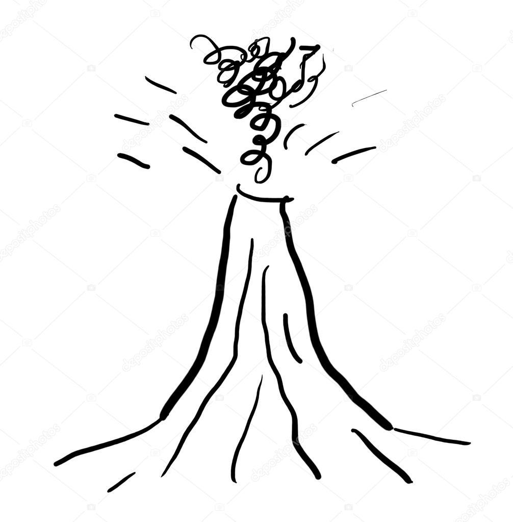Drawn volcano cartoon © #10221021 volcano Photo drawn