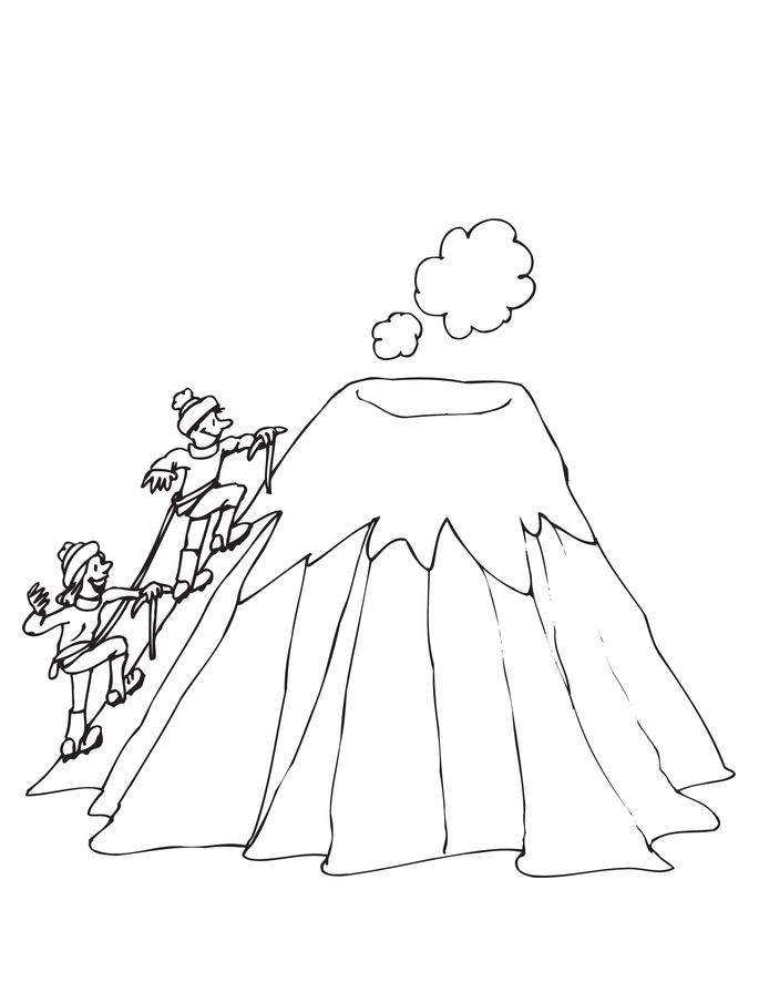 Drawn volcano coloring page Kids For Pages Volcano Coloring