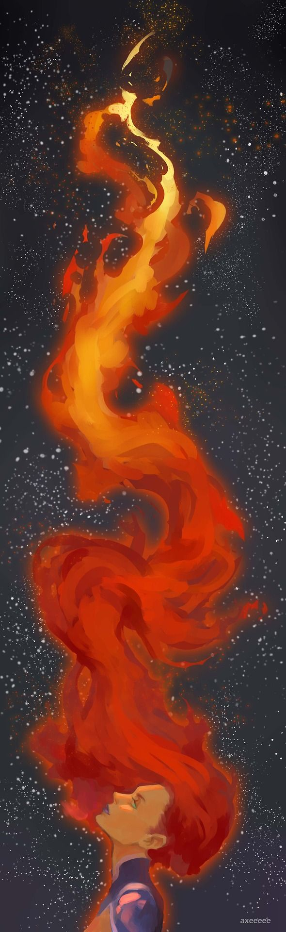 Drawn volcano fire 134 hair best Fire on