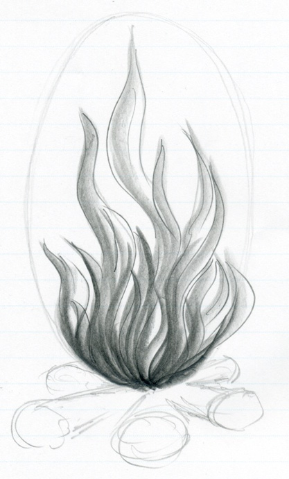Drawn volcano fire Draw How To Flames