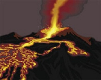Drawn volcano lava Teachengineering and a flowing www