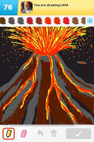 Drawn volcano lava Rate! Drawings Draw How Sign