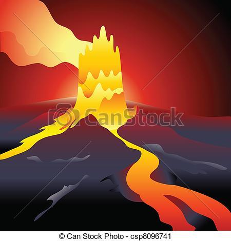 Volcano clipart fire Sky of Art  over