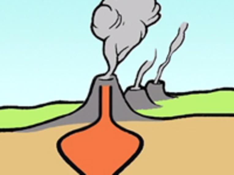 Drawn volcano magma Magma Volcanoes:  Rising