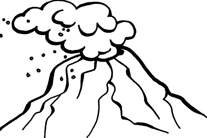 Volcano clipart black and white Page Volcano (76+) volcano Eruption