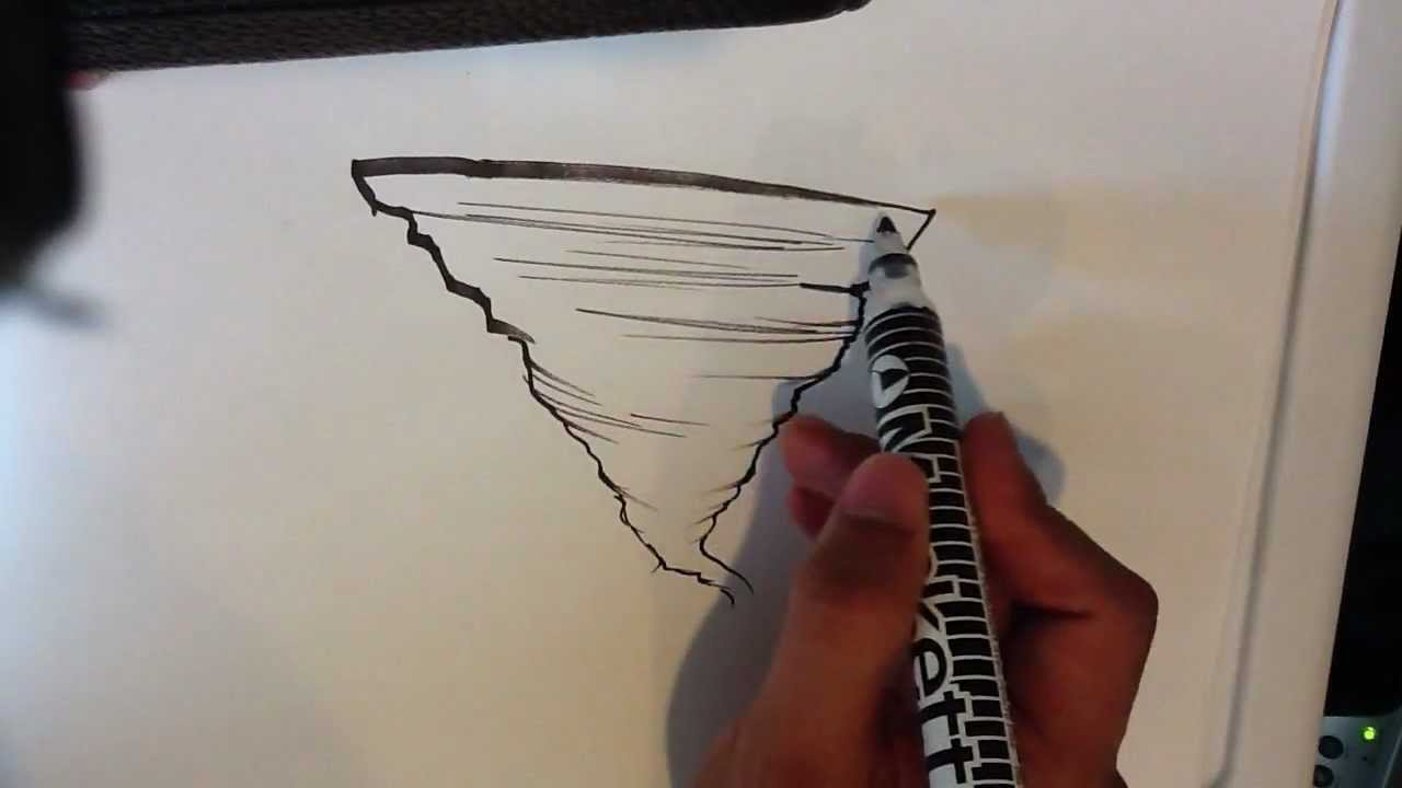 Drawn volcano pencil drawing Tornado a How to Draw