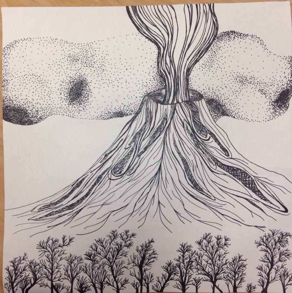 Drawn volcano pencil drawing Hawaii Pinterest volcano volcano VolcanoVolcanoesDrawing
