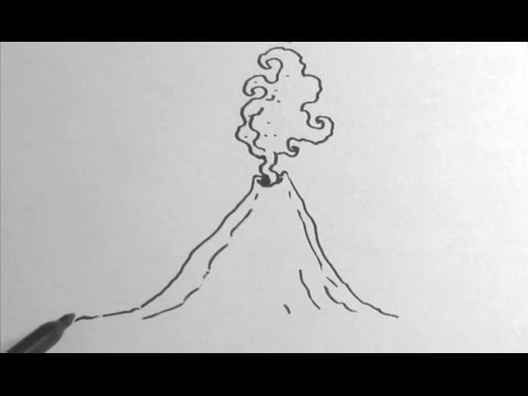 Drawn volcano pencil drawing Volcano to to Volcano How