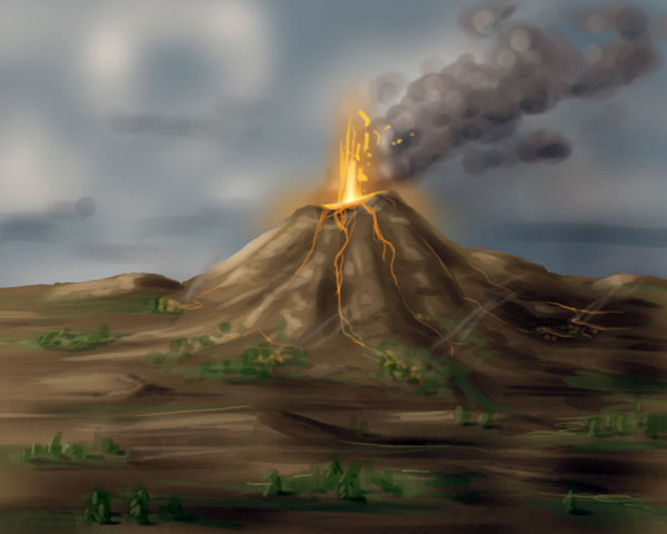 Drawn volcano realistic Drawing Realistic drawing Volcano Drawing