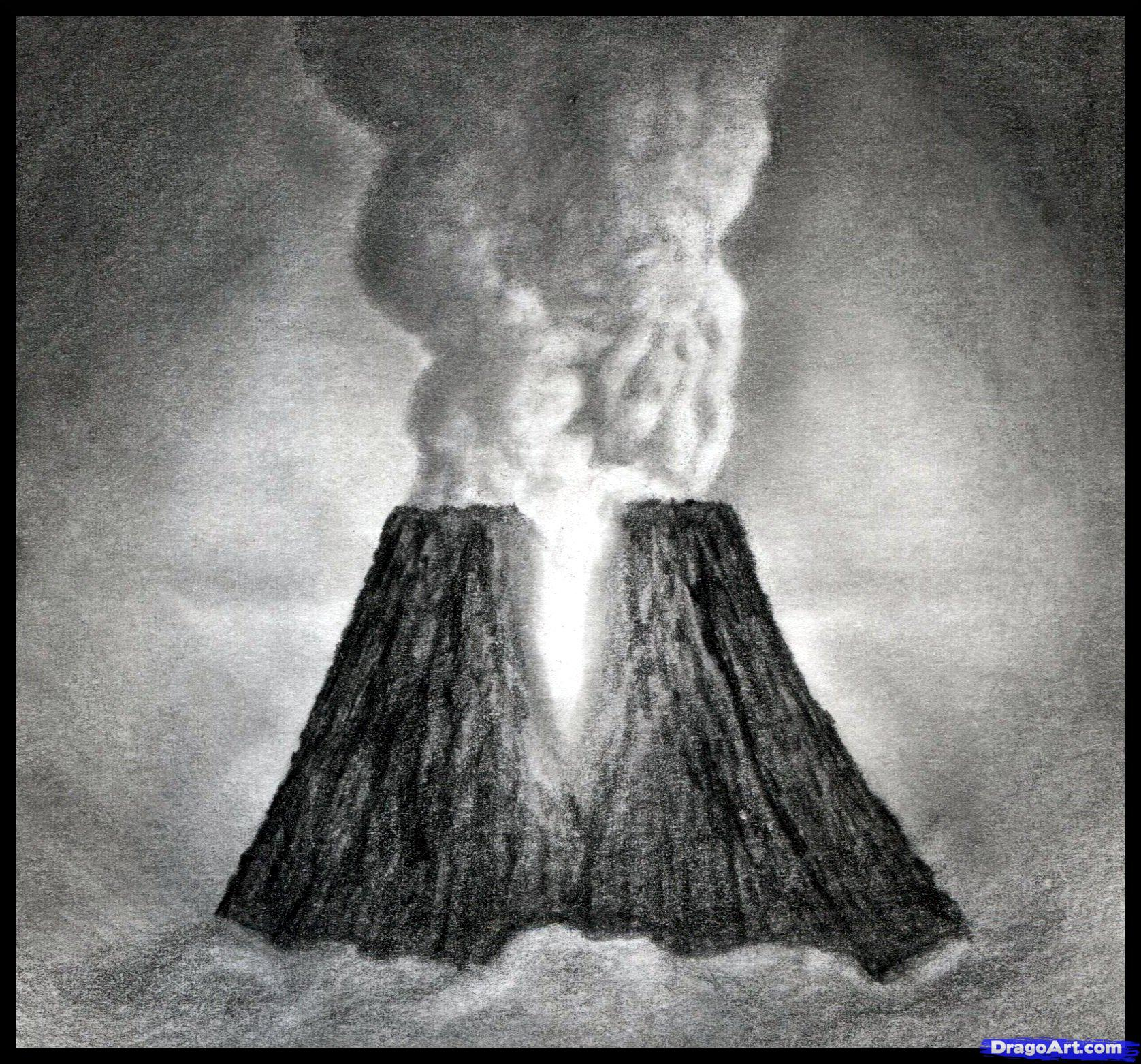 Drawn volcano realistic Volcanoes Draw to Volcanoes to