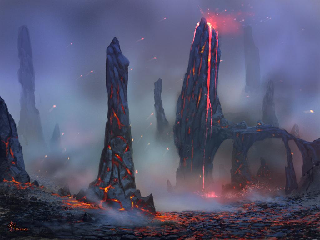 Drawn volcano sci fi Fantasy 727 on 구도 jjpeabody