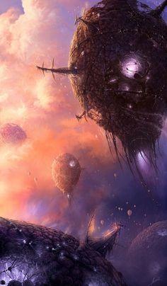 Drawn volcano sci fi Mariah Drako Pinterest sci fi