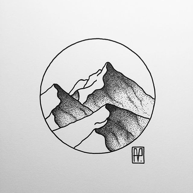 Drawn volcano small #9