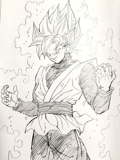 Drawn volcano supe Goku  marvel Rose Yijii