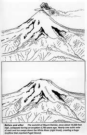 Drawn volcano volcanic eruption Image Volcano for volcano