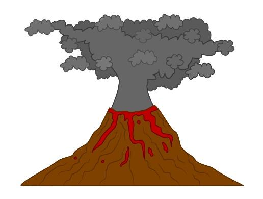 Drawn volcano volcanic eruption Drawing volcano volcano a cartoon