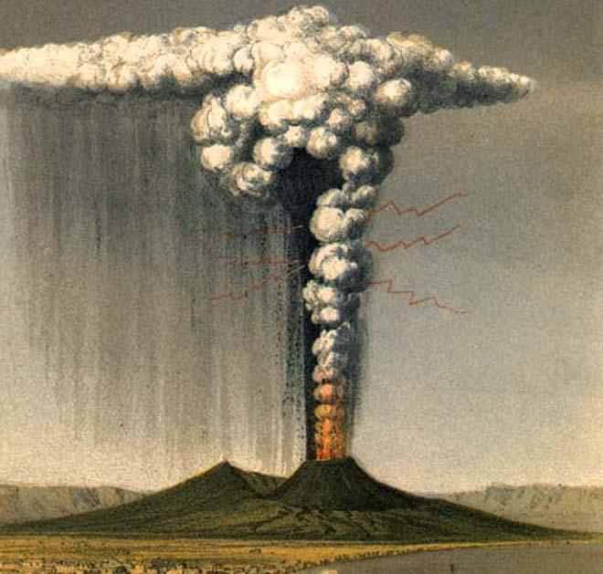 Drawn volcano volcanic eruption Drawing Volcano Eruptio Volcano Masteri