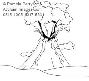 Drawn volcano volcano eruption Art Erupting Line an Volcano