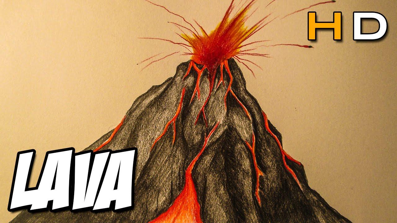 Drawn volcano volcano eruption To erupting step a How