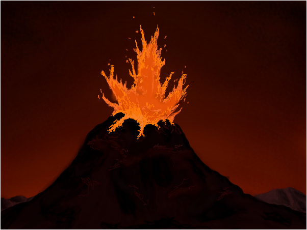Drawn volcano volcano eruption Drawing Drawing Masteri Eruption Volcano