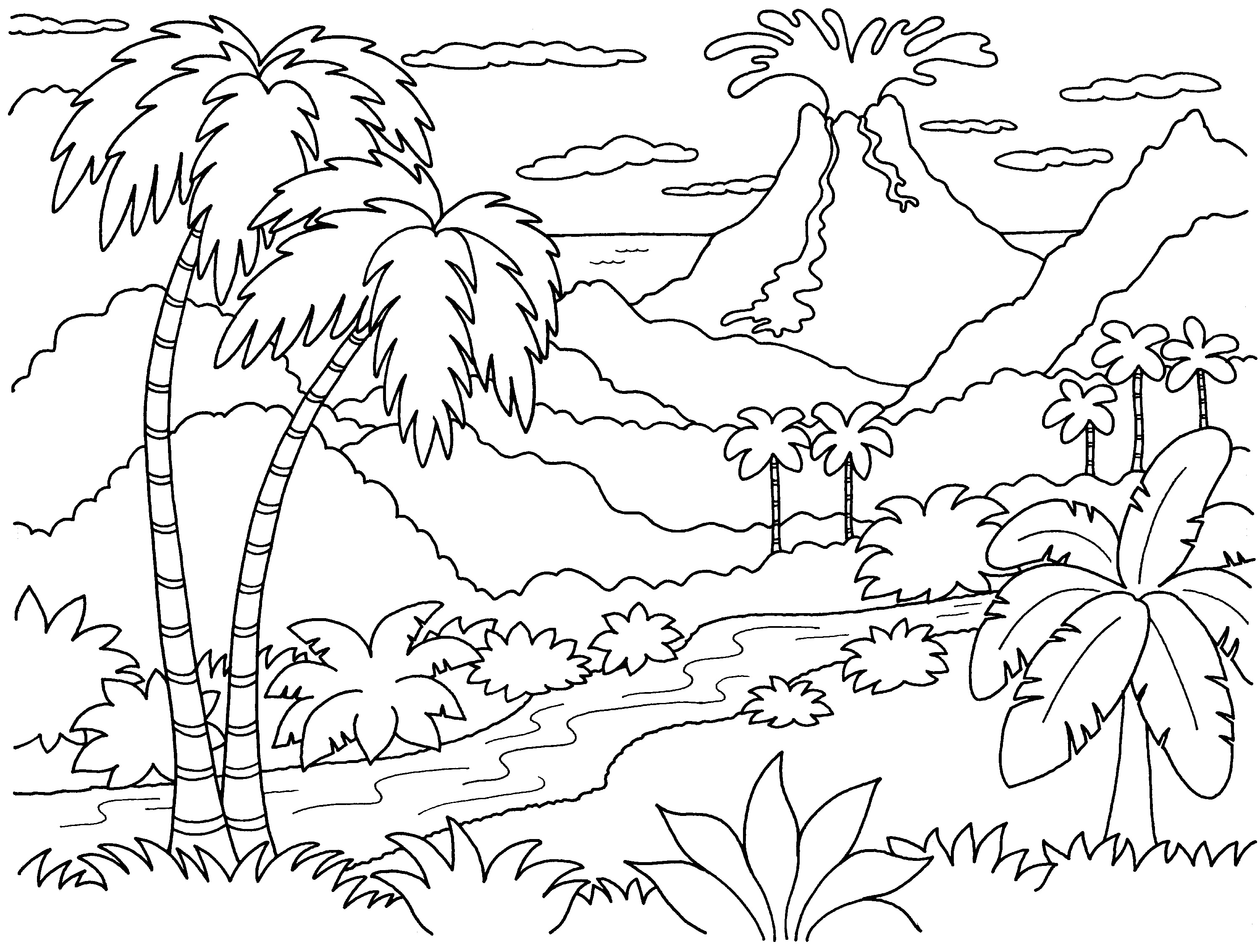 Islet clipart black and white Coloring Island Island #14 coloring