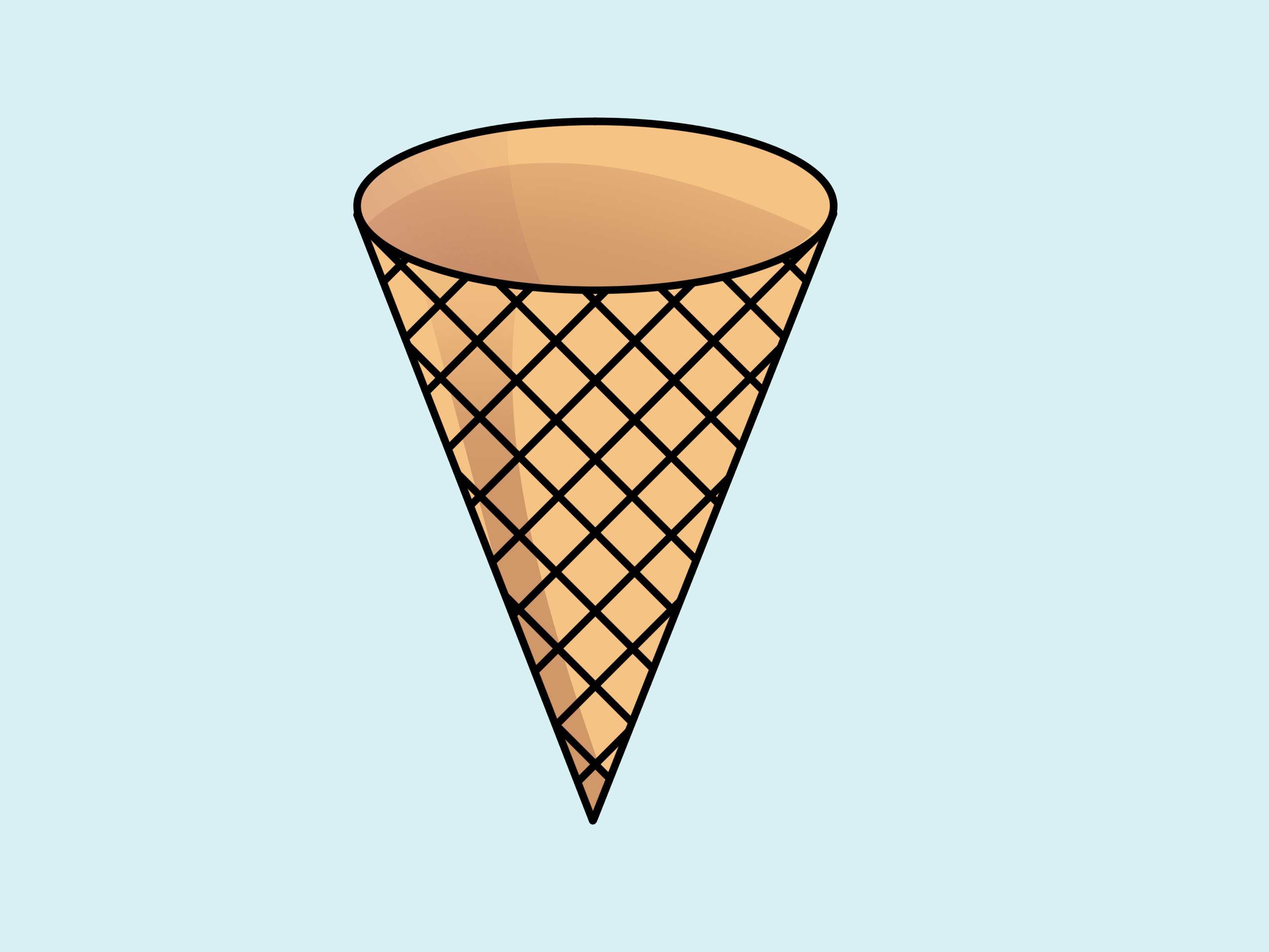 Drawn waffle cone Clip Cute Of Images For