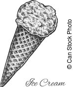 Drawn waffle cone Cone waffle in a of