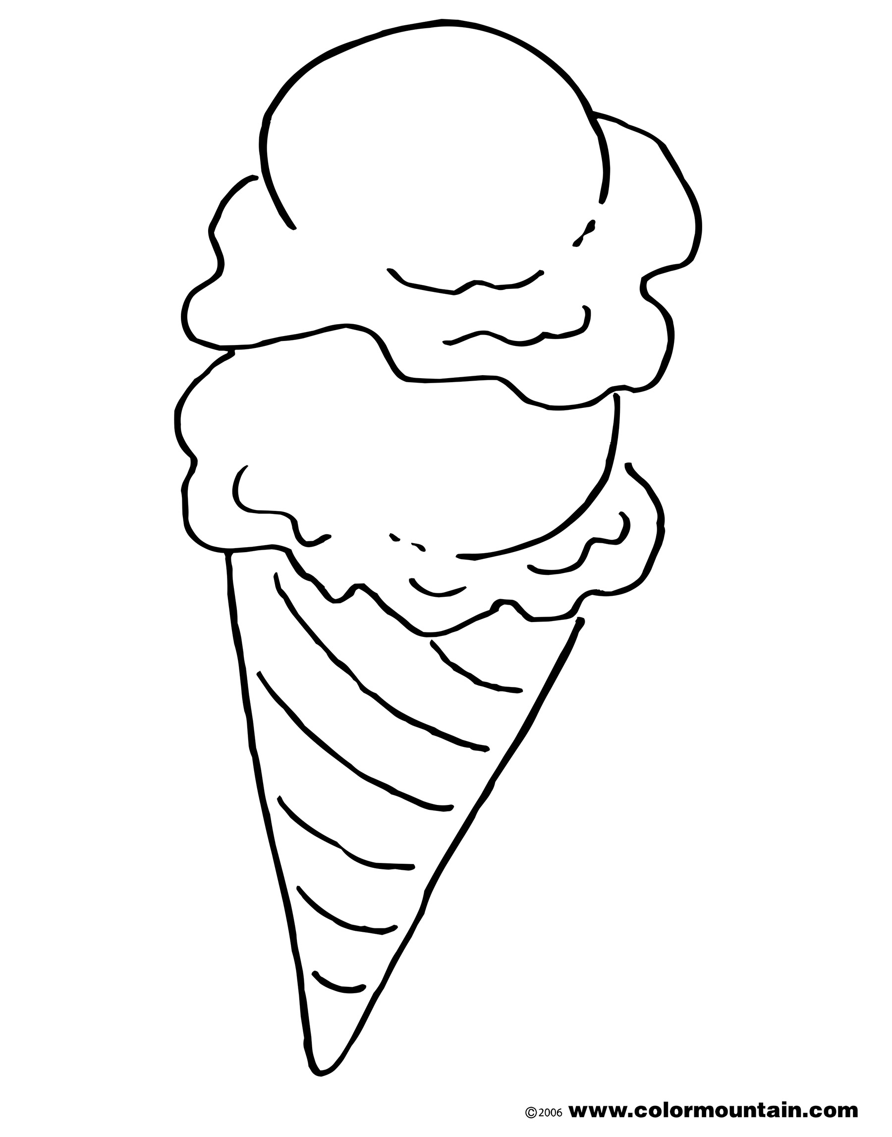 Ice Cream clipart top Coloring page cone cream Activity